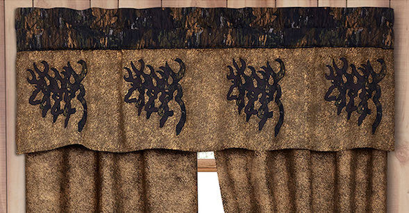 Browning 3D Buckmark Window Valance | The Cabin Shack