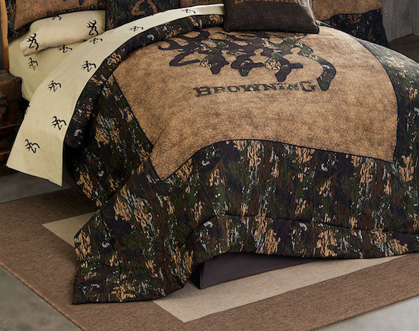 3D Buckmark Comforter Set | Cabin Bedding | The Cabin Shack