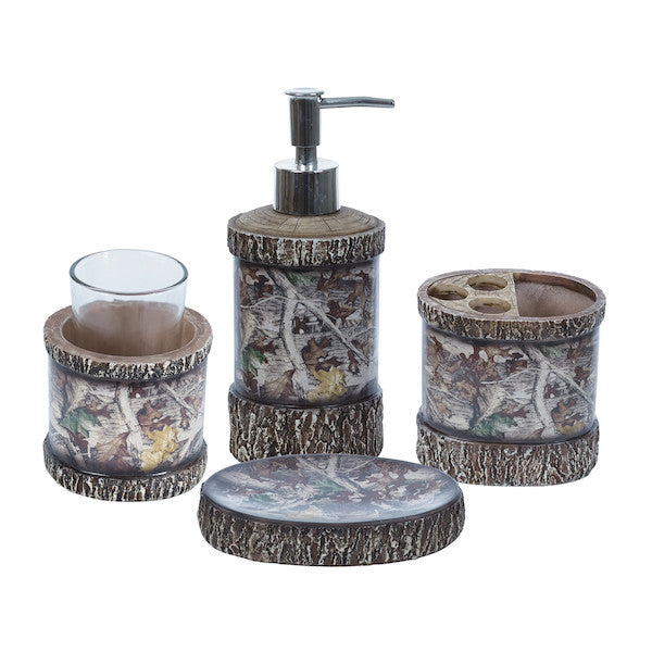 4 PC Camo Bathroom Set by HiEnd Accents | The Cabin Shack