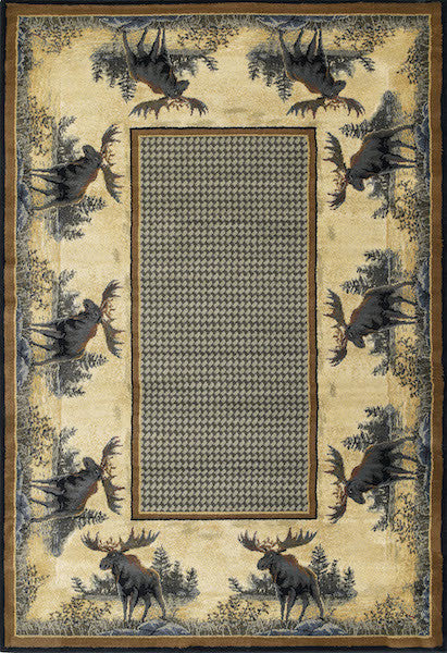 Northwood Moose Rustic Rug Collection | The Cabin Shack