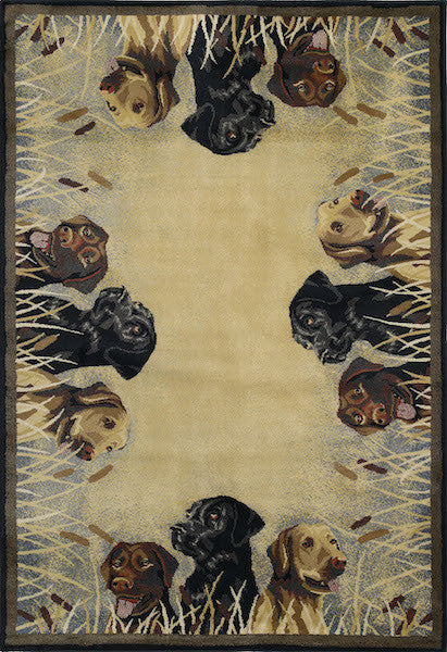 Labs on the Hunt Rustic Rug Collection | The Cabin Shack