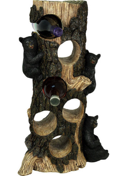 Black Bear Tree Wine Holder | Six Bottle | The Cabin Shack