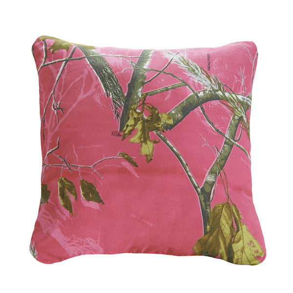 Realtree Camo Throw Pillows | APC Fuchsia | The Cabin Shack