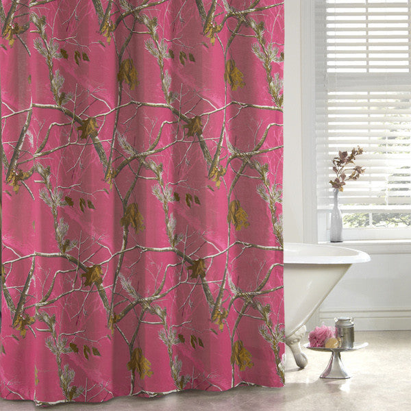 Realtree APC Fuchsia Shower Curtain | The Cabin Shack
