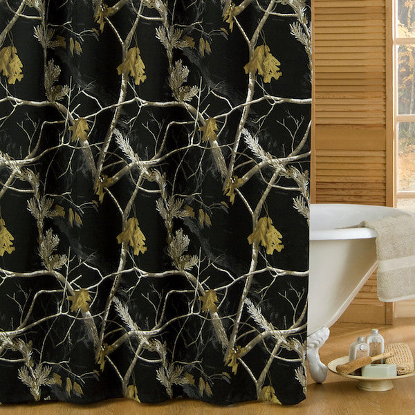 Realtree AP Black Shower Curtain | The Cabin Shack