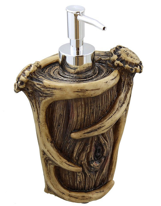 Cabin Decor - Antler Soap Dispenser - The Cabin Shack