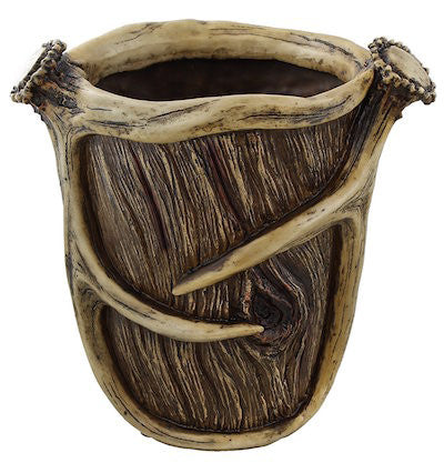 Cabin Decor - Antler Waste Basket - The Cabin Shack