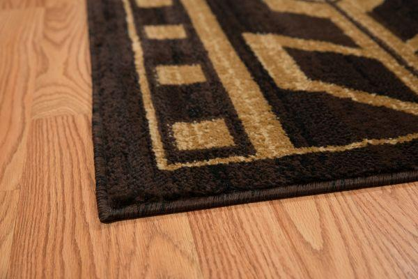 Aztec Coffee Rug Edge View | The Cabin Shack