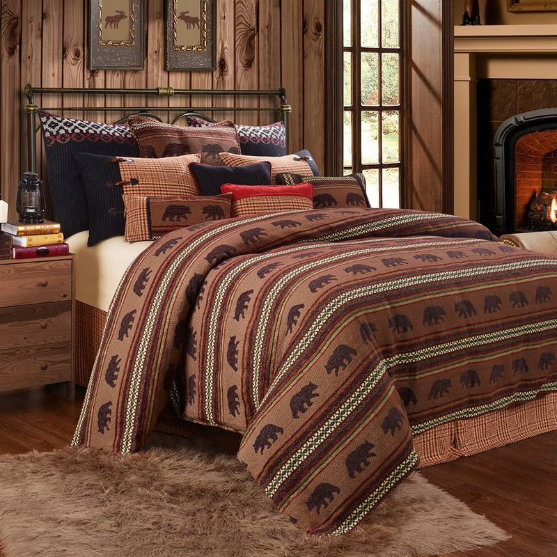 Bayfield Bear Duvet Rustic Bedding Collection