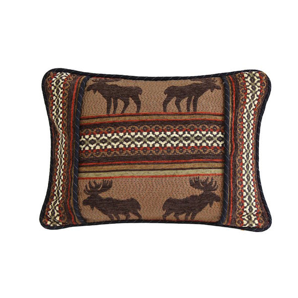Bayfield Moose Rustic 16x21 Oblong Pillow | The Cabin Shack
