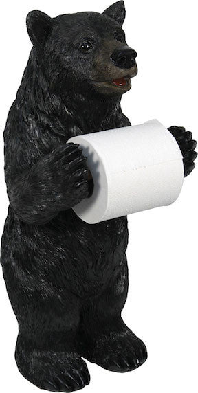 Cabin Toilet Paper Holder | Black Bear | The Cabin Shack