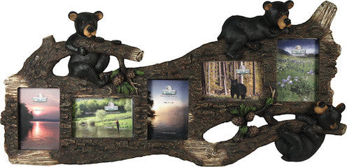 Cabin Picture Frames | Black Bears 5 Photo | The Cabin Shack