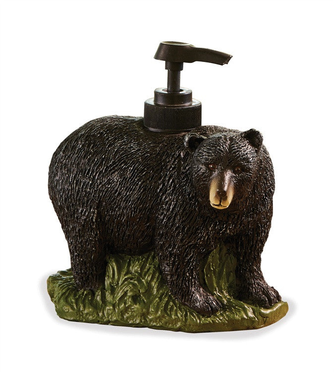 Black Bear Decor | Black Bear Soap Dispenser | The Cabin Shack