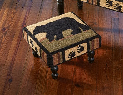 Black Bear Retreat Stool by Park Designs | The Cabin Shack