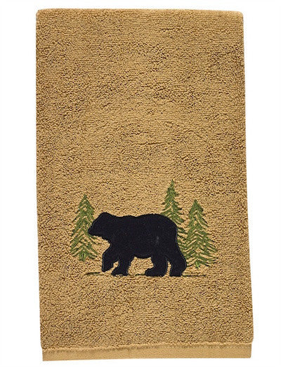 Bear Tracks Hand Towel | Cabin Decor by The Cabin Shack