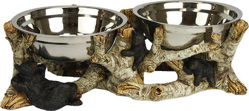 Dog Bowl | Birch Bark and Black Bear