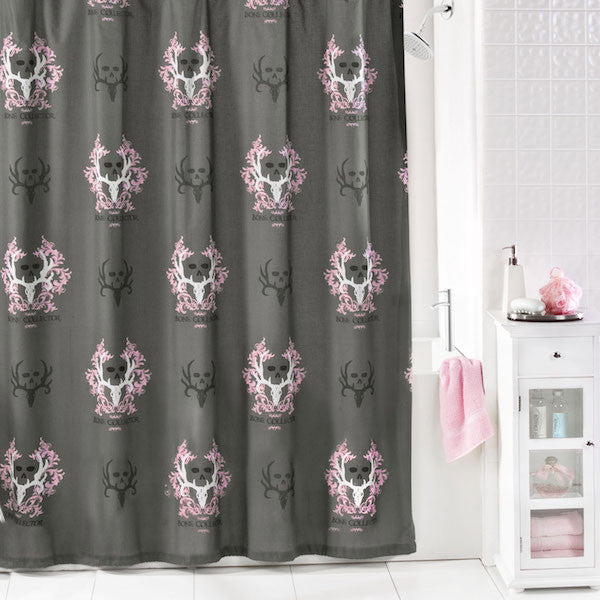 Bone Collector Pink Shower Curtain | The Cabin Shack