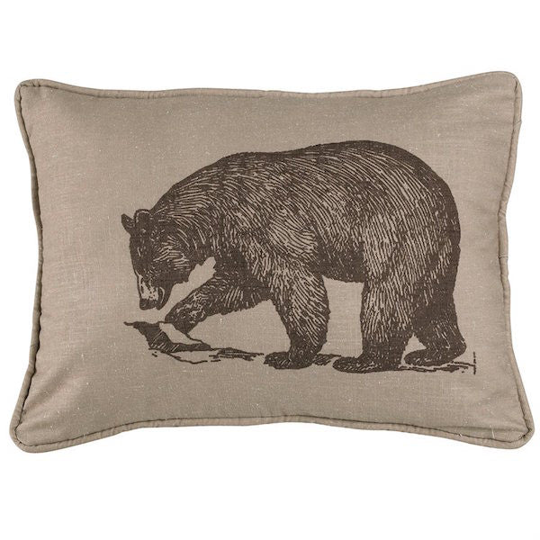 Briarcliff Rustic 16x21 Bear Throw Pillow | The Cabin Shack