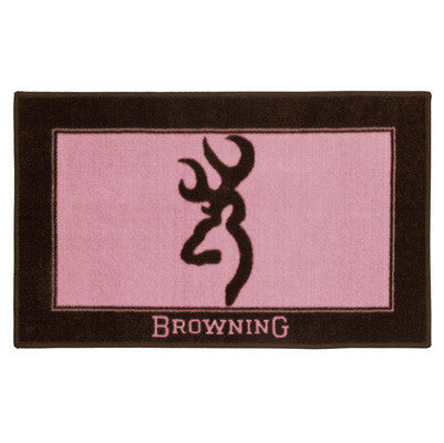 Cabin Decor - Pink Browning Buckmark Bath Mat - The Cabin Shack