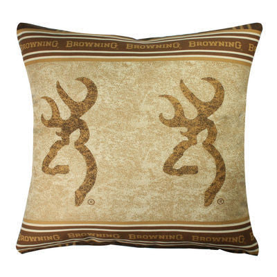 Browning Buckmark | Double Throw Pillow | The Cabin Shack