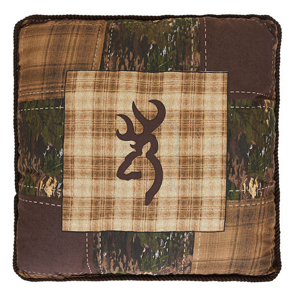Browning Country | Plaid Throw Pillow | The Cabin Shack