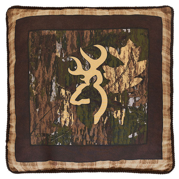 Browning Country | Camo Throw Pillow | The Cabin Shack