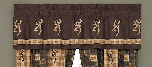Browning Country Valance | Cabin Bedding | The Cabin Shack