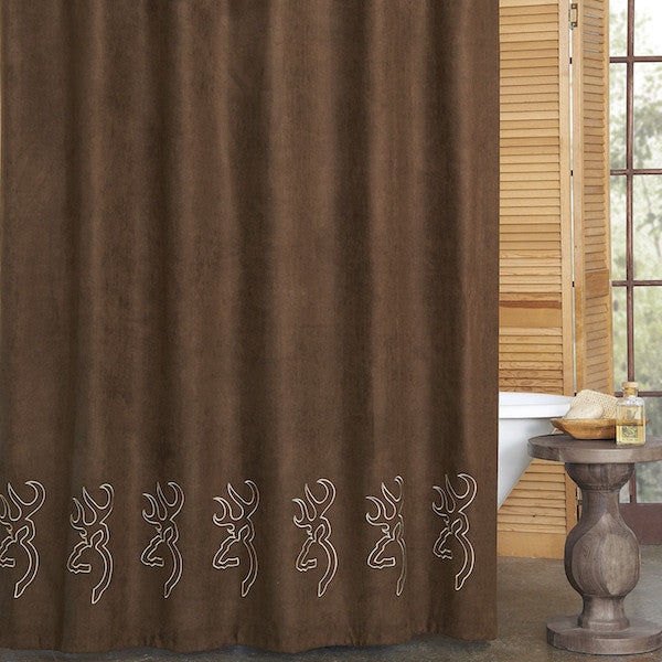Browning Suede Shower Curtain | The Cabin Shack