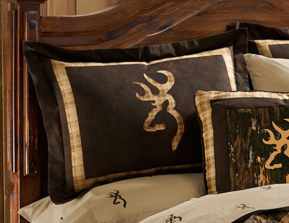 Browning Country Sham | Cabin Bedding | The Cabin Shack