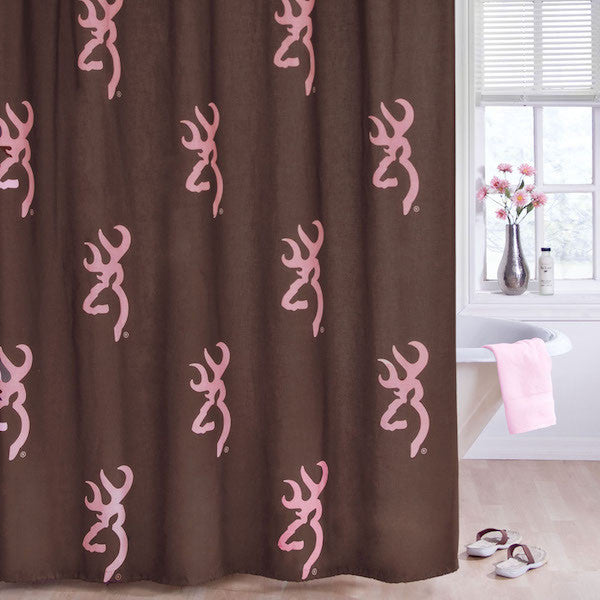 Browning Buckmark Pink Shower Curtain | The Cabin Shack