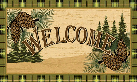 Cabin Rugs | Pinecone Welcome Rug | The Cabin Shack