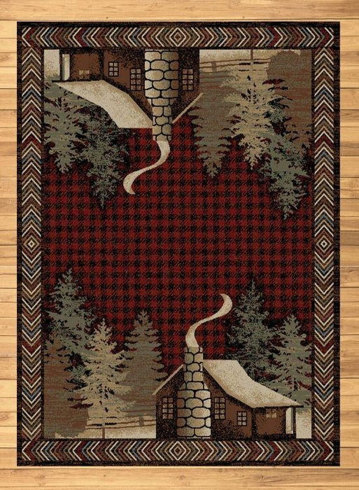 Cabin Solitude Red Rug | The Cabin Shack
