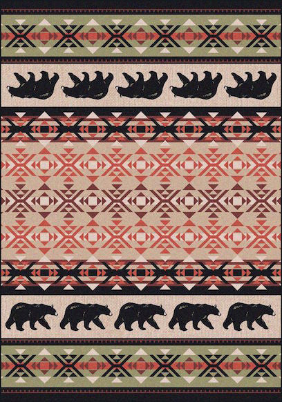 Cabin Rugs | Cozy Bears Lodge Rug | The Cabin Shack