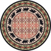 Cabin Rugs | Cozy Bears Lodge Rug Round | The Cabin Shack