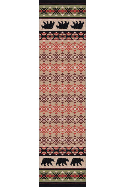 Cabin Rugs | Cozy Bears Lodge Rug Runner | The Cabin Shack