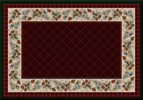 Cabin Rugs | Evergreen Garnet Lodge Rug | The Cabin Shack