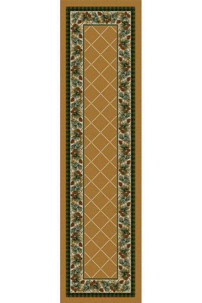 Cabin Rugs | Evergreen Maize Lodge Rug Runner | The Cabin Shack