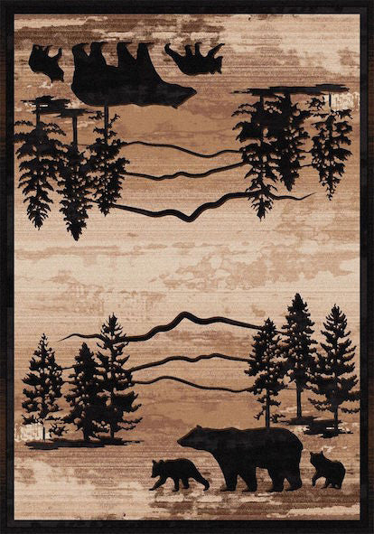Cabin Rugs | Mountain Shadow Bear Lodge Rug | The Cabin Shack
