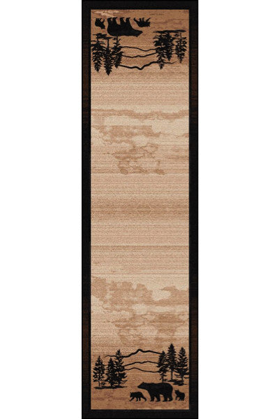 Cabin Rugs | Mountain Shadow Bear Lodge Rug Runner | The Cabin Shack