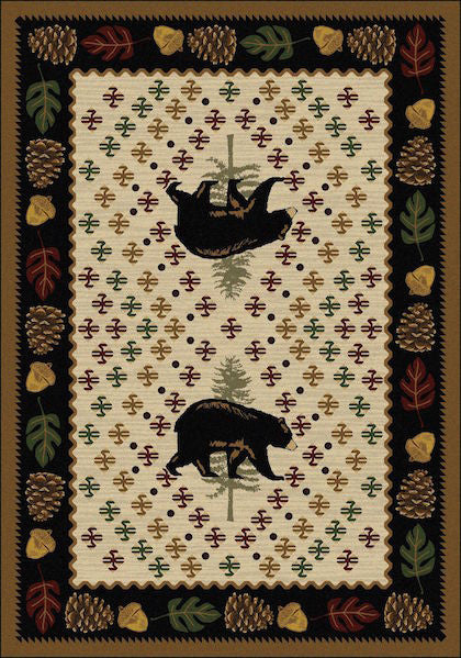 Cabin Rugs | Patchwork Bear Lodge Rug | The Cabin Shack