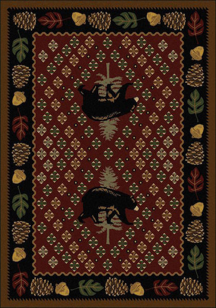 Cabin Rugs | Patchwork Bear Red Lodge Rug | The Cabin Shack