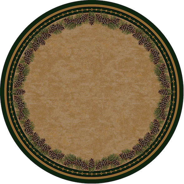 Cabin Rugs | Pine Mountain Lodge Style Rug Round | The Cabin Shack