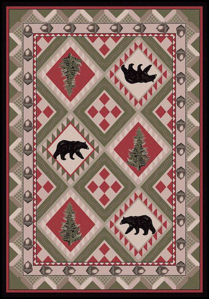 Cabin Rugs | Quilted Forest Lodge Rug | The Cabin Shack