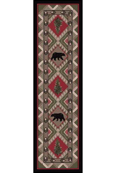Cabin Rugs | Quilted Forest Lodge Rug Runner | The Cabin Shack