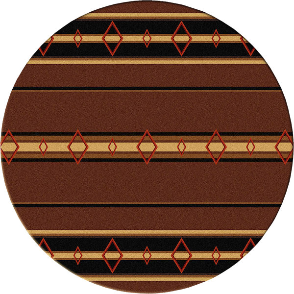Southwest Corners Brown Rustic Lodge Rug Round | The Cabin Shack