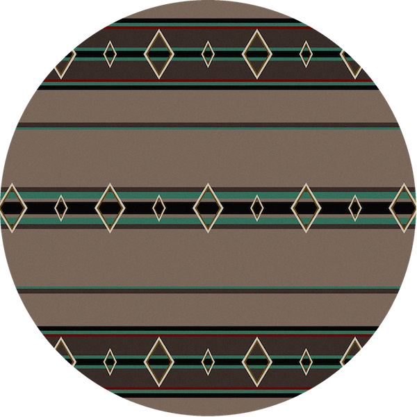 Southwest Corners Turquoise Rustic Rug The Cabin Shack