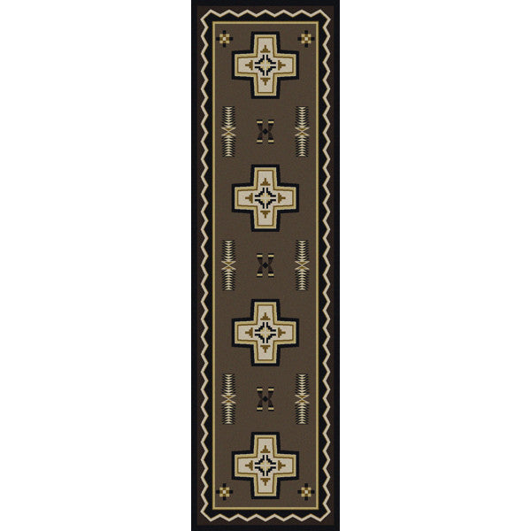 Southwest Cross Rustic Lodge Rug Runner | The Cabin Shack