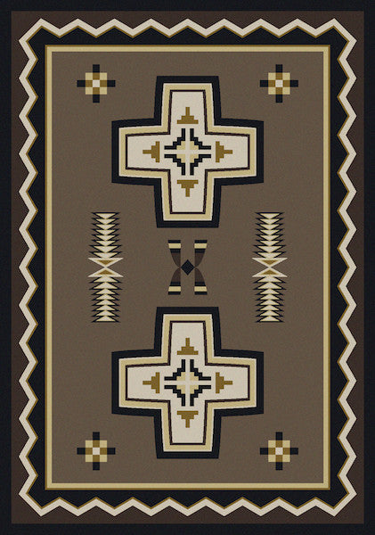 Southwest Cross Rustic Lodge Rug | The Cabin Shack