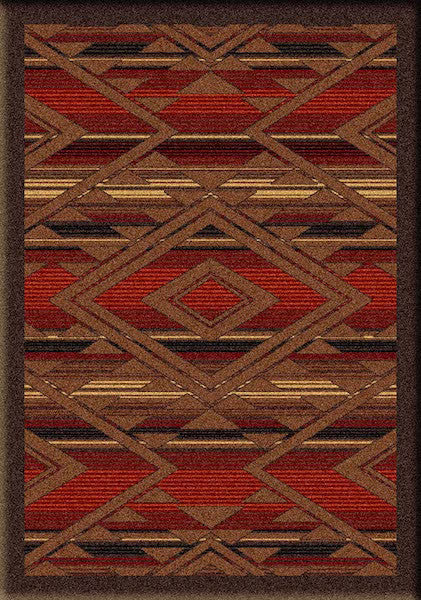 Southwest Spirit Rustic Lodge Rug 3x4 | The Cabin Shack