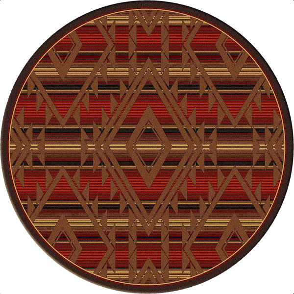 Southwest Spirit Rustic Lodge Rug Round | The Cabin Shack